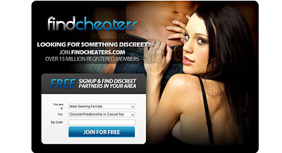 FindCheaters.com home page
