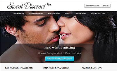 SweetDiscreet.com home page