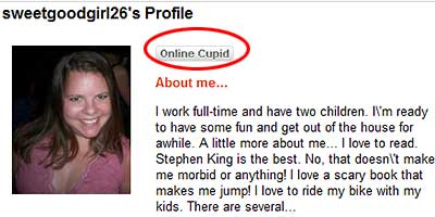 Online dating fake messages