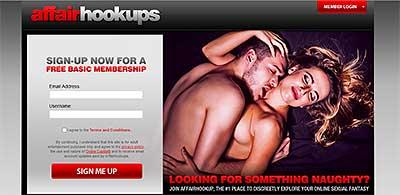 AffairHookups.com home page