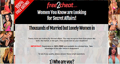 Free2Cheat.com home page