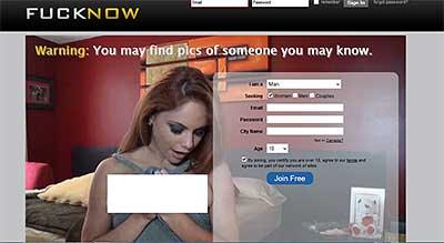 FuckNow.com home page