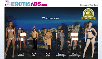 EroticAds.com homepage