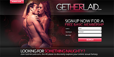 GetHerLaid.com home page