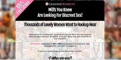 GrannieHookups.com homepage