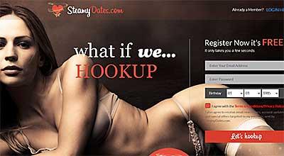 SteamyDates.com homepage