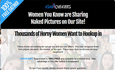 AsianCheaters.com home page
