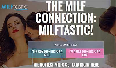 Milftastic.com homepage