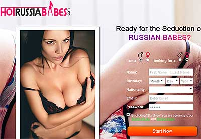 HotRussiaBabes.com homepage