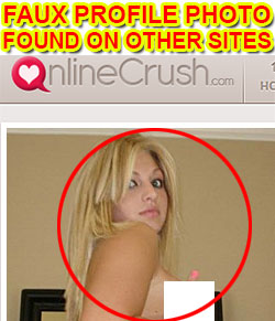 Fake profile photo OnlineCrush.com