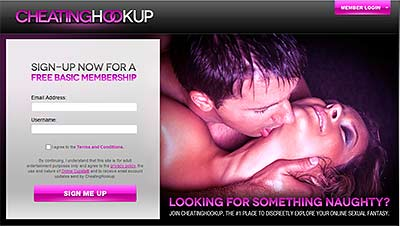 CheatingHookup.com home page
