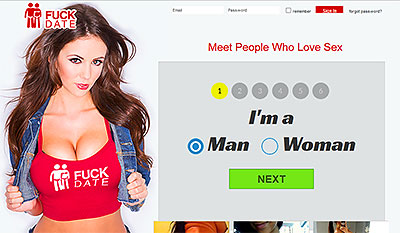 FuckDates.com home page