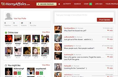 HornyAffairs.com home page