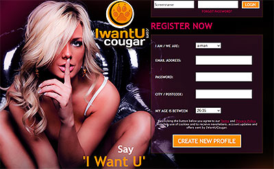 IWantUCougar.com home page