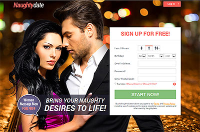 NaughtyDate.com home page