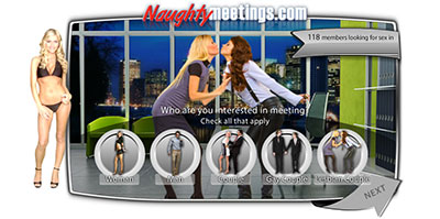 NaughtyMeetings.com home page
