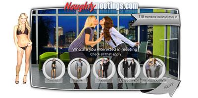 NaughtyMeetings.com home page