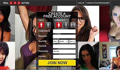 RealXxxAction.com Home Page