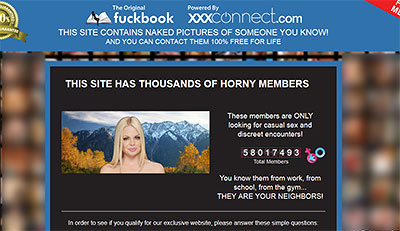 XxxConnect.com home page