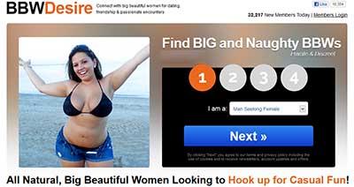 BBWDesire.com home page