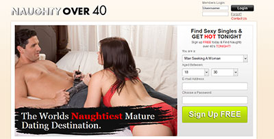 NaughtyOver40.com home page