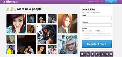FlirtLocal.com home page