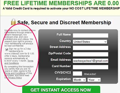 free-lifetime-membership-scam