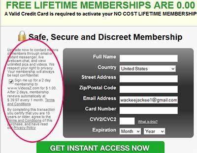 free-lifetime-membership-scam