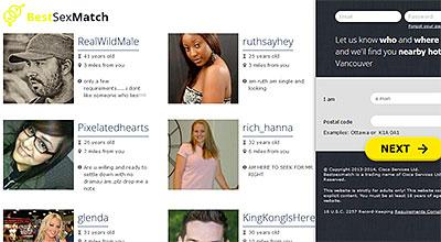 BestSexMatch.com home page