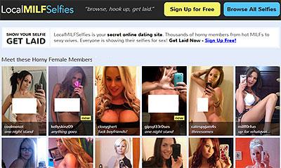 LocalMilfSelfies.com home page