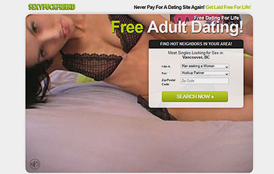 SexyFuckFriend.com home page