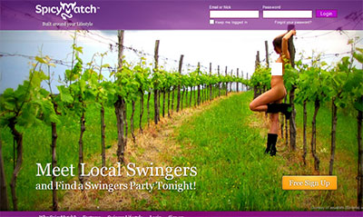 SpicyMatch.com home page