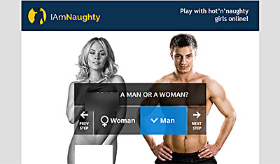 IAmNaughty.com home page