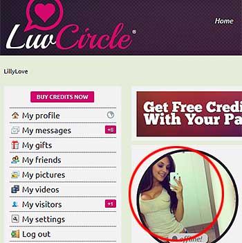 LuvCircle.com fake profile