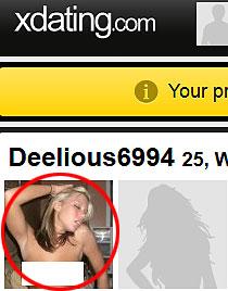 XDating.com fake profile