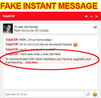 fake instant message