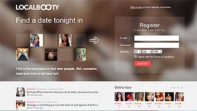 LocalBooty.com homepage
