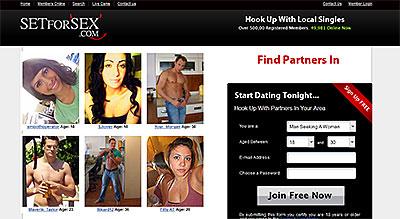 SetForSex.com homepage