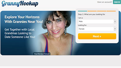 GrannyHookup.com_homepage