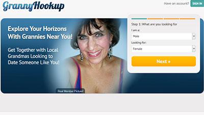 GrannyHookup.com_homepage