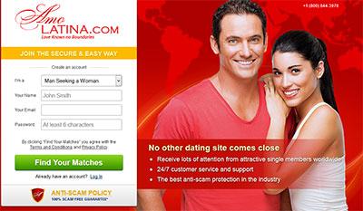 AmoLatina.com home page