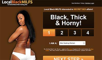 LocalBlackMilfs.com homepage