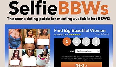 SelfieBbbws.com homepage