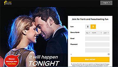 OneNightFriend.com home page