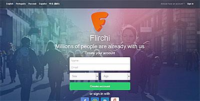Flirchi.com home page
