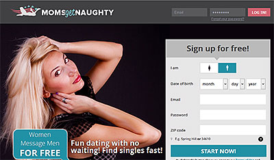 MomsGetNaughty.com home page