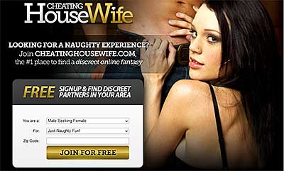 CheatingHousewife.com home page
