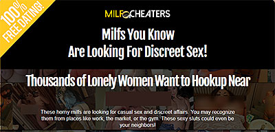 MilfCheaters.com home page