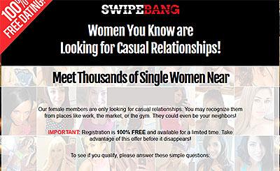 SwipeBang.com homepage