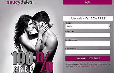 SaucyDates.com home page